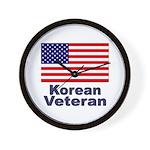 Korean Veteran Wall Clock