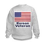 Korean Veteran (Front) Kids Sweatshirt
