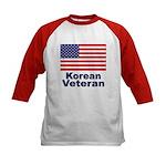 Korean Veteran (Front) Kids Baseball Jersey