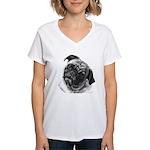 Pug Women's V-Neck T-Shirt