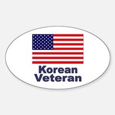 Korean Veteran Sticker (Oval)