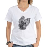 Yorkshire Terrier Women's V-Neck T-Shirt