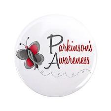 """Parkinson's Awareness 1 Butterfly 2 3.5"""" Button"""