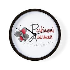 Parkinson's Awareness 1 Butterfly 2 Wall Clock