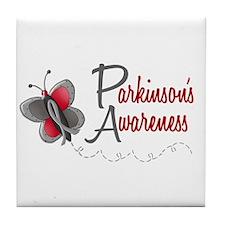 Parkinson's Awareness 1 Butterfly 2 Tile Coaster