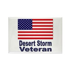 Desert Storm Veteran Rectangle Magnet
