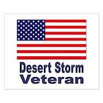 Desert Storm Veteran Small Poster