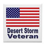 Desert Storm Veteran Tile Coaster