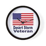 Desert Storm Veteran Wall Clock