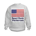 Desert Storm Veteran (Front) Kids Sweatshirt