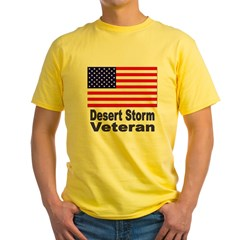 Desert Storm Veteran Yellow T-Shirt