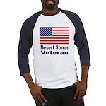 Desert Storm Veteran (Front) Baseball Jersey