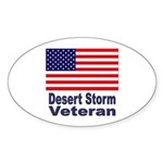 Desert Storm Veteran Oval Sticker