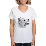 Samoyed Women's V-Neck T-Shirt