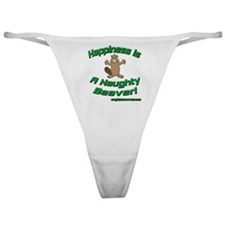 Happiness Is A Naughty Beaver Classic Thong