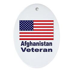 Afghanistan Veteran Oval Ornament