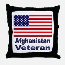 Afghanistan Veteran Throw Pillow