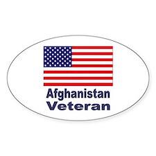 Afghanistan Veteran Oval Decal