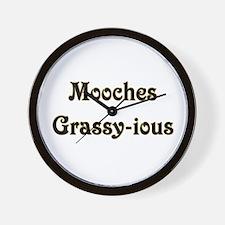 Mooches Grassy-ious Wall Clock