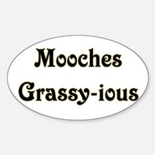 Mooches Grassy-ious Oval Decal