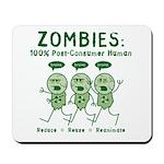 Zombies (Green) Mousepad