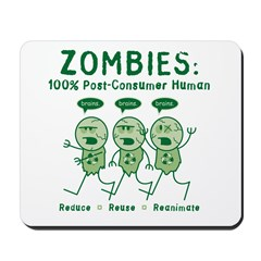 Zombies (Green) Mousepad