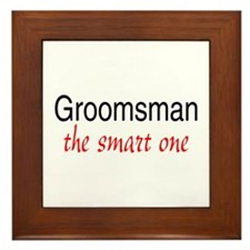 Groomsman (The Smart One) Framed Tile