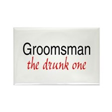 Groomsman (The Drunk One) Rectangle Magnet (10 pac