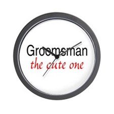 Groomsman (The Cute One) Wall Clock