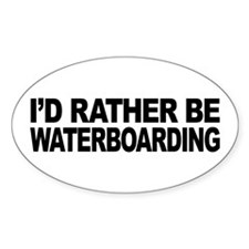 I'd Rather Be Waterboarding Oval Decal