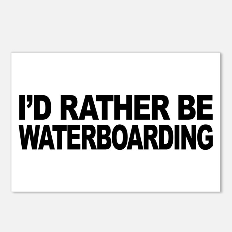 I'd Rather Be Waterboarding Postcards (Package of