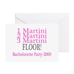 1 Martini, 2 Martini, 3 Martini, Floor Greeting Ca