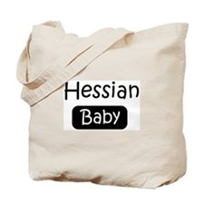 Hessian baby Tote Bag