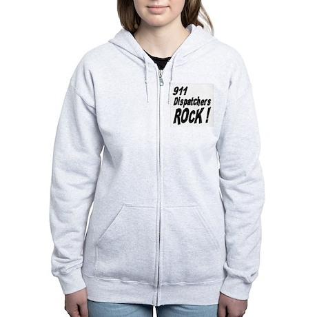 911 Dispatchers Rock ! Women's Zip Hoodie