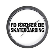 I'd Rather Be Skateboarding Wall Clock