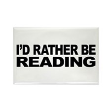 I'd Rather Be Reading Rectangle Magnet