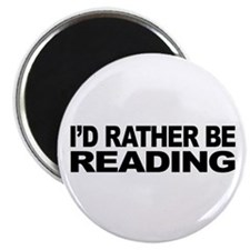 "I'd Rather Be Reading 2.25"" Magnet (10 pack)"