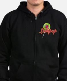 Text Lollipop Zip Hoodie