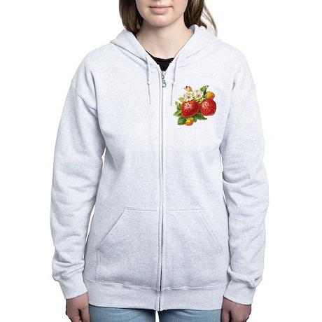 Retro Strawberry Women's Zip Hoodie