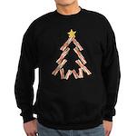 Bacon Christmas Tree Sweatshirt (dark)