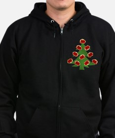 Meat Christmas Tree Zip Hoodie