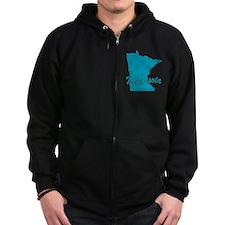 State Minnesota Zip Hoodie