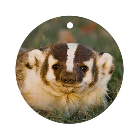 Badger Ornament (Round)