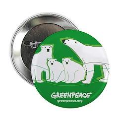 """Polar bear 2.25"""" Button"""