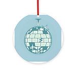 Disco Ball Christmas Ornament (Round)