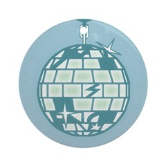 Disco Ball Christmas Ornament (Round)