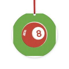 Pop Art 8 Ball Christmas Ornament (Round)