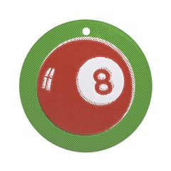 Pop Art 8 Ball Christmas Ornament (Round)