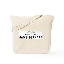 about the Saint Bernard Tote Bag