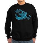 Old Line Drawing Bird Sweatshirt (dark)